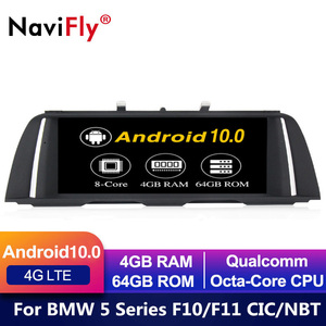 European warehouse! 8Core Android 10 car dvd for BMW 5 Series F10 F11 2010-2016 CIC NBT Car GPS Navigation Multimedia Radio f10(China)