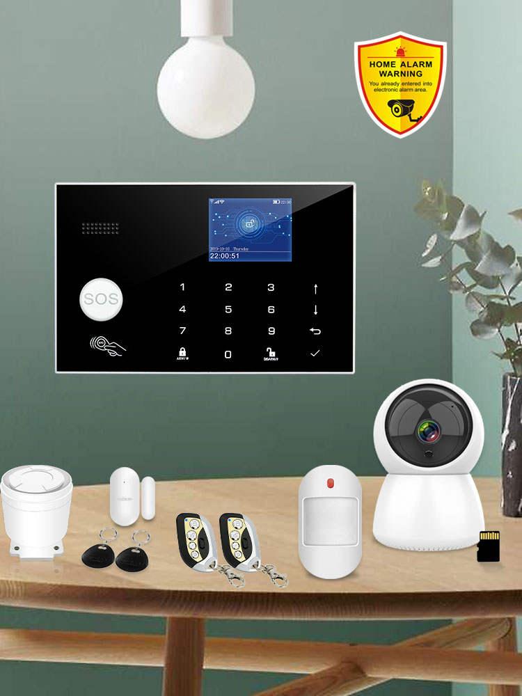 Alarm-System Wired-Detector Burglar-Alarm Wifi Alexa Tft-Touch-Keyboard RFID Compatible