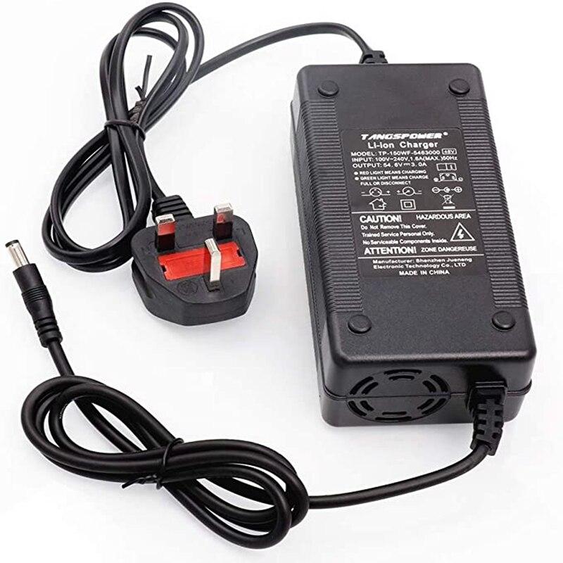 54,6 V 3A зарядное устройство для 13S 48V литий-ионная батарея электрический велосипед литиевая батарея зарядное устройство Высокое качество сил...