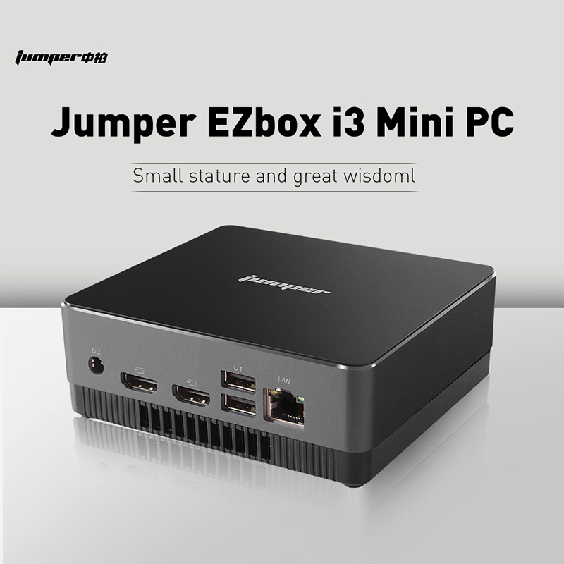 Jumper EZbox I3 Mini PC Intel 5005U HD Image 8GB+128GB 2.4G+5G WiFi Gigabit LAN USB TypeC Windows10 For Desktop Pc Mini Computer
