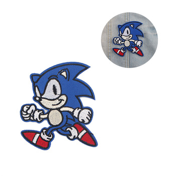 R962 1pcs Sonic Boy Cool Iron On Applique For T-shirt Jacket Airplane Embroidered Patches Diy Clothing Accessories