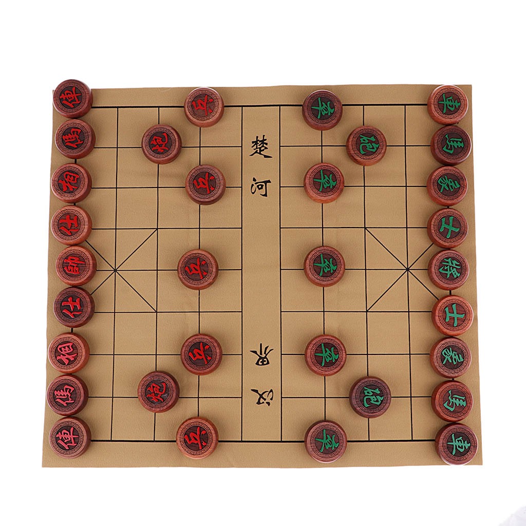 Deluxe Tradisional Cina Set Catur Papan Permainan Xiangqi Dengan Pu Kotak Kotak Dan Rosewood Potongan Catur Set Aliexpress