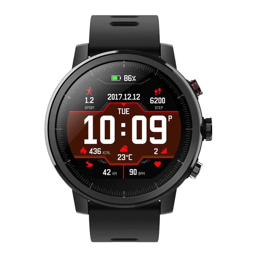 Смарт-часы для спорта на открытом воздухе, экран 1,34 дюйма, 2,5D, GPS, пульсометр, водонепроницаемые часы для Xiaomi Huami Amazfit Stratos Pace 2