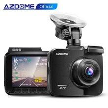 """Azdome traço cam 4k 2160p fhd dvr carro gravador de condução wifi construído no painel gps 2.4 """"lcd, wdr, visão noturna, monitor de estacionamento"""