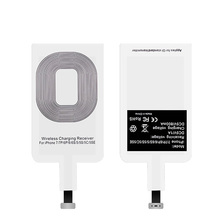 Qi Wireless Charger Receiver For iPhone 5 5S SE 6 6S 7 Plus Universal Charging Receiver Adapter Pad Coil For Micro USB Type-C usb qi wireless charger receiver inductive coil receptor for iphone 7 plus 6s plus 6 5s 5c se 7plus wireless charging receiver