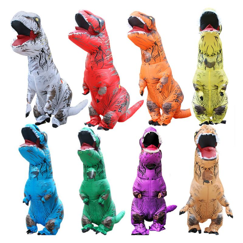 2019 Hot Sale Kids Cartoon Animal Doll Costume Inflatable Dinosaur Costume Children Halloween Blowup Outfit Cosplay Inflatable Bouncers Aliexpress