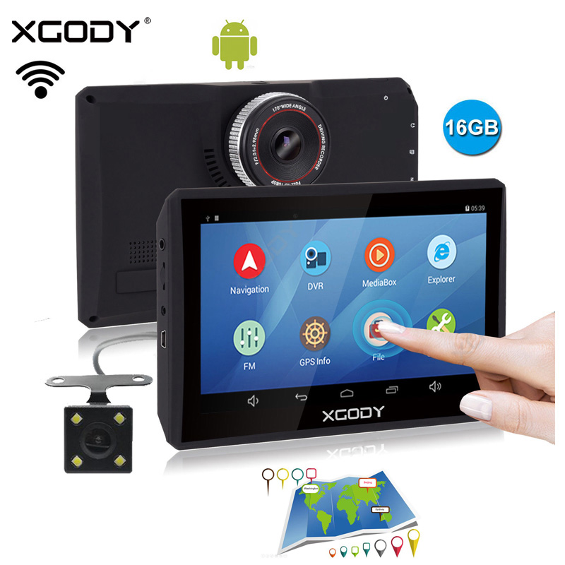 Xgody Video-Recorder Navigator Dash-Cam Russia-Navitel Car Gps Android 7inch 16GB EU