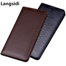 Genuine Leather Magnetic Holder Flip Cover For Samsung Galaxy A10 A20 A30 A40 A50 A60 A70 A80 A90 Phone Bag Case Stand Coque