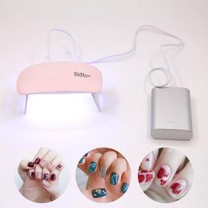 Image 3 - SUNmini 6w UV מנורת LED נייד USB כבל עבור ראש מתנת בית שימוש ג ל נייל פולני מייבש מיני USB LED UV מנורות