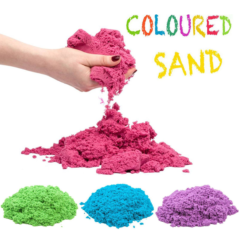 100g/Bag Magic Kinetic Sand Modeling Kit Clay Super Colored Soft Slime Space Play Sand Antistress Supplies Educational Toys Set