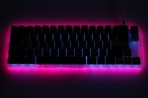 Image 5 - hot swappable YC66 pcb Custom Mechanical Keyboard rgb smd switch leds type c usb port  with acrylic case rgb side light