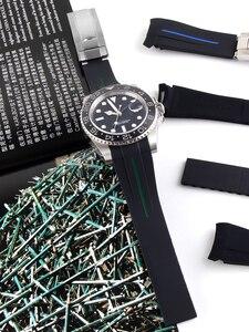 Image 2 - กันน้ำนาฬิกายางซิลิโคนสำหรับบทบาทนาฬิกากีฬาสายรัดข้อมือสำหรับ Submariner GMT Master วัน tona Deep Sea Oyster