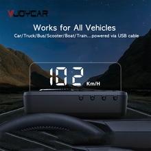 Vjoycar v81 gps head up display hud espelho de velocidade do carro projetor automático velocímetro kmh/kpm compatiable com todos os carros, veículo do caminhão