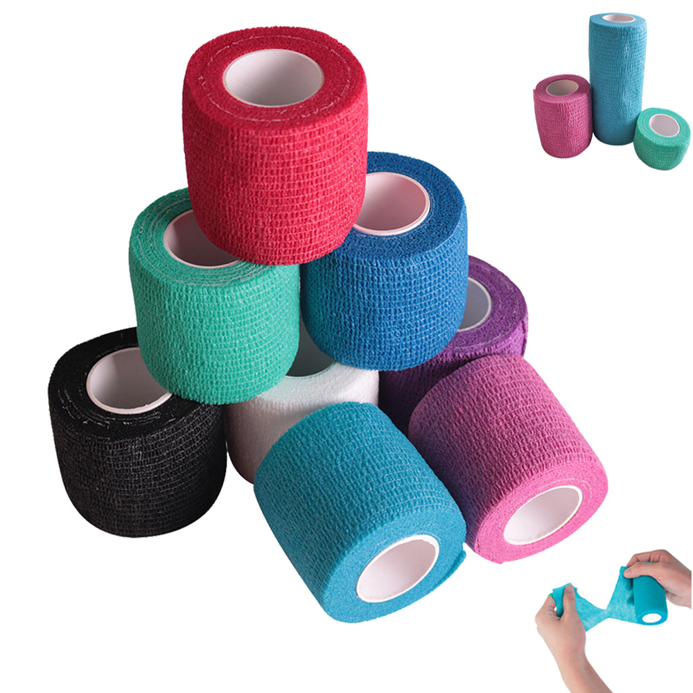 1Pcs Sport Waterproof Medical Therapy Self Adhesive Bandage Muscle Tape Finger Joints Wrap First Aid Kit Pet Elastic Bandage