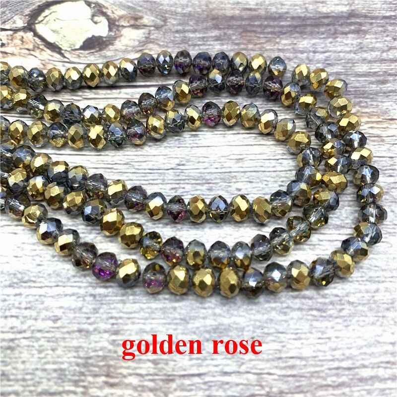 2X3/ 3X4/ 4X6/ 6X8mm Crystal Beads AB Multicolor Sapcer Glass Beads for Jewelry  Hand Ring Necklace Making DIY Wholesale