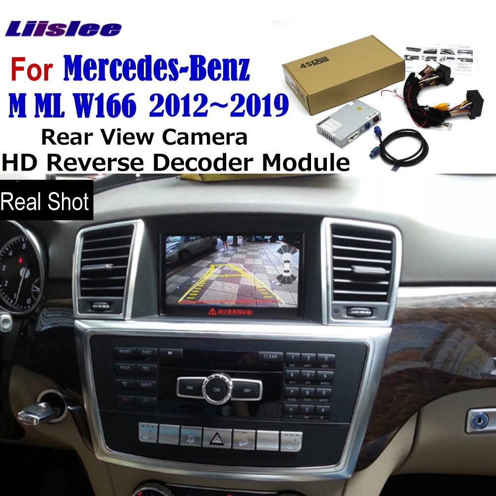 For Mercedes Benz M ML W166 2012~2018 2019 Original Screen Upgrade Track Image Parking Rear View Camera Reverse Decoder Module