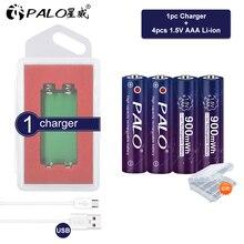 פאלו 1.5V AAA ליתיום AAA נטענת סוללה 900mwh AAA 1.5V ליתיום נטענת AAA Batery עבור Led אור צעצוע MP3