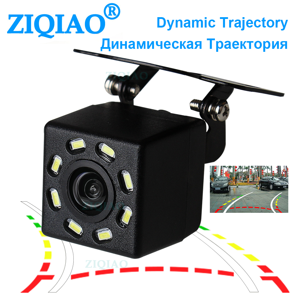 ZIQIAO Car Dynamic Trajectory Reverse Camera Dynamic Guide Line Auxiliary Parking Rear View Camera HS083