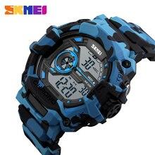 цена на SKMEI Outdoor Sports Watches Men LED Fashion Digital Wristwatches 50M Waterproof Back Light Alarm Week Display Watch 1233