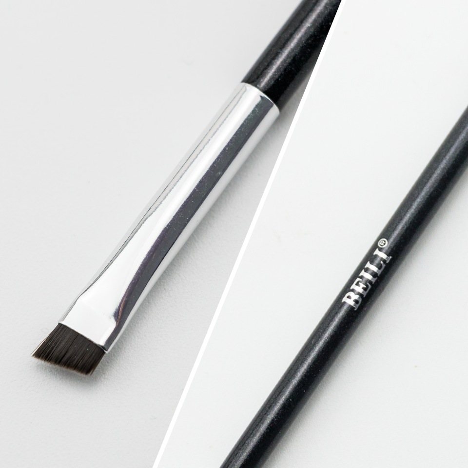Image 2 - BEILI Black pink Brow brushes Professional Synthetic Hair thin Eye brow liner Brow concealer Makeup Tool Single Makeup Brushes-in Eye Shadow Applicator from Beauty & Health