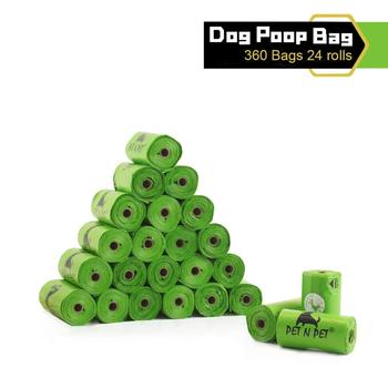 360 Counts Dog Poo Bags Biodegradable Poop 24 Refill Rolls Large and Thick Unscented Eco Green Waste