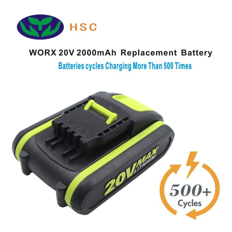 18V 20V Li-Ion Battery Charger for Worx WA3551.1 WX523 WX523.9 WG259 WX678 WX390