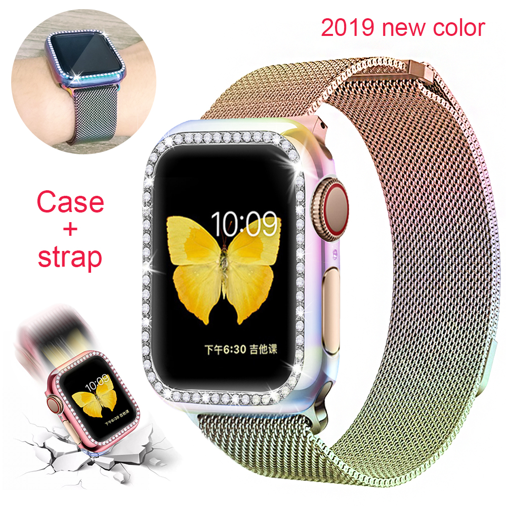 Case+strap For Apple Watch 5 Band 44mm 40mm IWatch Band 42mm 38mm Milanese Loop Bracelet Watchband For Apple Watch 4 3 2 1