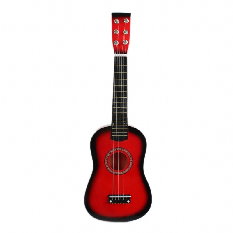 23inch Guitar Mini Guitar Basswood Kid's Musical Toy Acoustic Stringed Instrument with Plectrum 1st String Red