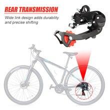 Desviador traseiro da bicicleta de estrada montanha 6 7 velocidade tz50 liga alumínio peças ciclismo portátil dustproof