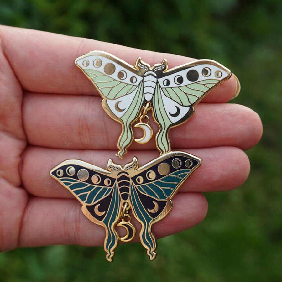 Luna Moth Brooch