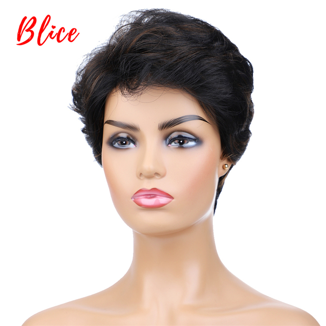 Blice Synthetic Hair Mix Color Short Natural Wave For Women Free Shipping Heat Resistant Kanekalon Wig P1B/30 Daily Wigs