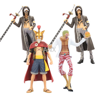 23CM One Piece Figure Luffy Law Doflamingo PVC Action Anime Collection Peripherals Doll Model Toys Desktop decoration great gift 9 myethos houkai 3rd anime raiden mei wedding dress 1 8 scale boxed 23cm pvc action figure collection model doll toys gift