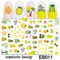 Новые 3D наклейки для ногтей, фрукты, ананас, наклейка для ногтей, фольга, клейкие наклейки, украшения для ногтевого дизайна, аксессуары для м...