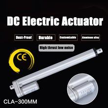 цена на Metal Gear Electric Linear Actuator 12V 24V 36V 48V 300mm Stroke 5-90mm/s Speed 100-1000N DC Electric Motor Linear Actuator