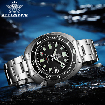 цена Addies Watches NH35 Sapphire Mens Watches Automatic Mechanical Waterproof Diver Watch 200m Automatic Watch Men C3 Luminous онлайн в 2017 году