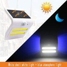 3 режима светодиодный солнечный светильник уличный движения
