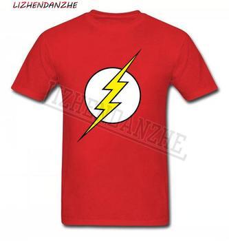 Koszulka teoria wielkiego podrywu The flash druku i mężczyzn koszulki z krótkim rękawem gorąca sprzedaży koszulka casual koszula XS ~ XXL bawełna odzież superbohater 032 tanie i dobre opinie LIZHENDANZHE DRESS SHORT CN (pochodzenie) COTTON summer HIP HOP Z okrągłym kołnierzykiem tops Z KRÓTKIM RĘKAWEM Short sleeve