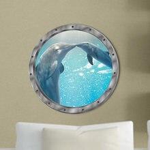 5 stylów podwodne ryby naklejki ścienne wodoodporne delfin żółw naklejki do dekoracji pralki na naklejki łazienkowe pcv