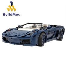 Buildmoc-bloques de construcción de automóviles Ferrared F1 para niños, TECHNIC Racer, supercoche, leping, piezas, juguetes, regalo