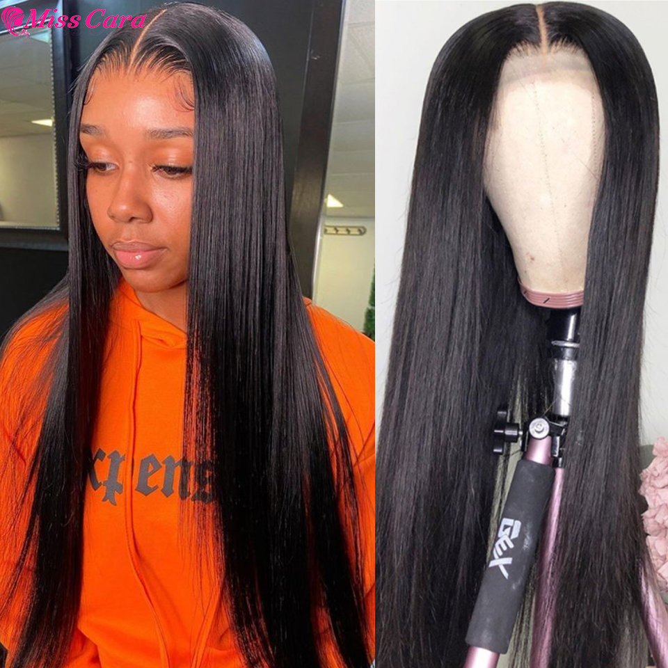 Miss Cara Bone Straight Lace Frontal Wigs For Women Peruvian T Part Transparent Lace Front Wigs Bone Straight Lace Closure Wigs