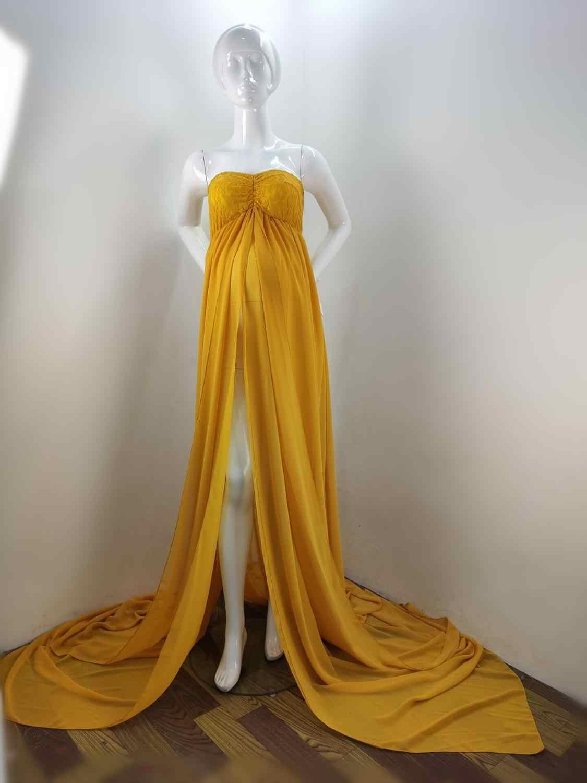 Đầm Ren Phối Đồ Váy Đầm Cho Buổi Chụp Hình Gợi Cảm Chia Trước Phụ Nữ Mang Thai Lạ Mắt Mang Thai Đầm Đạo Cụ Chụp Ảnh Đầm Maxi Bầu