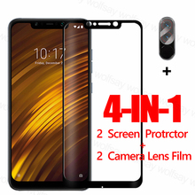 Full Glue Screen Protector For Xiaomi Pocophone F1 Glass For Poco X3 X2 F2 M2 Pro Tempered Glass Protective Phone Film Poco F1