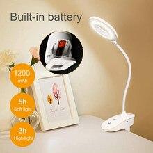 Novo clipe lâmpada de mesa estudo 3 modos toque 1200mah recarregável led lâmpada de mesa de leitura usb luz de mesa flexo lâmpada de mesa dropshipping