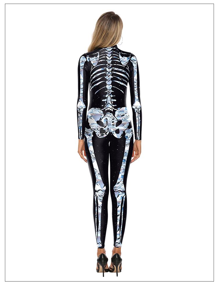 New skeleton costume Cosplay Halloween thriller skeleton costume women horror anime performance clothing