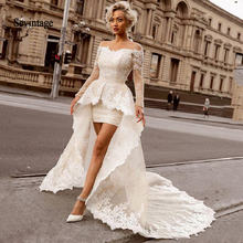 Свадебное платье sevintage выше колена в стиле бохо со съемным