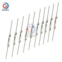 Interruptor Magnético de caña N/O, 2x14mm, Interruptor de Inducción magnética normalmente abierta, 10 Uds.
