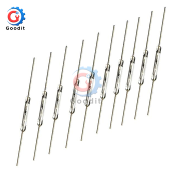 10pcs N/O Reed switch Magnetic Switch 2 * 14mm Normally Open Induction - discount item  21% OFF Electrical Equipment & Supplies
