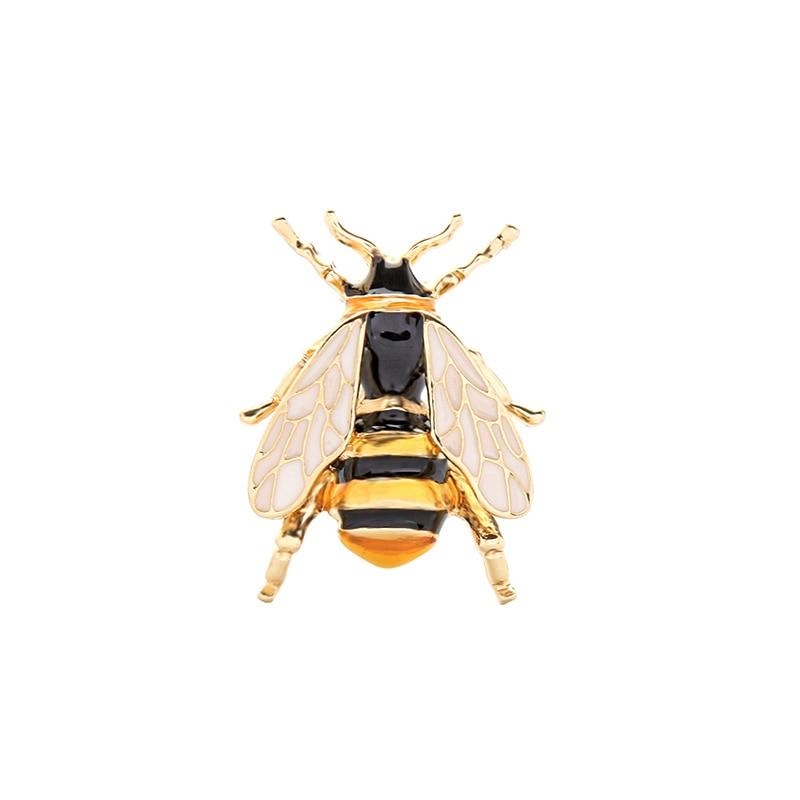 2020 новые ювелирные изделия модная Съемная брошь желто-черное насекомое с эмалевым покрытием пчела брошь с малой Заколкой ювелирные изделия