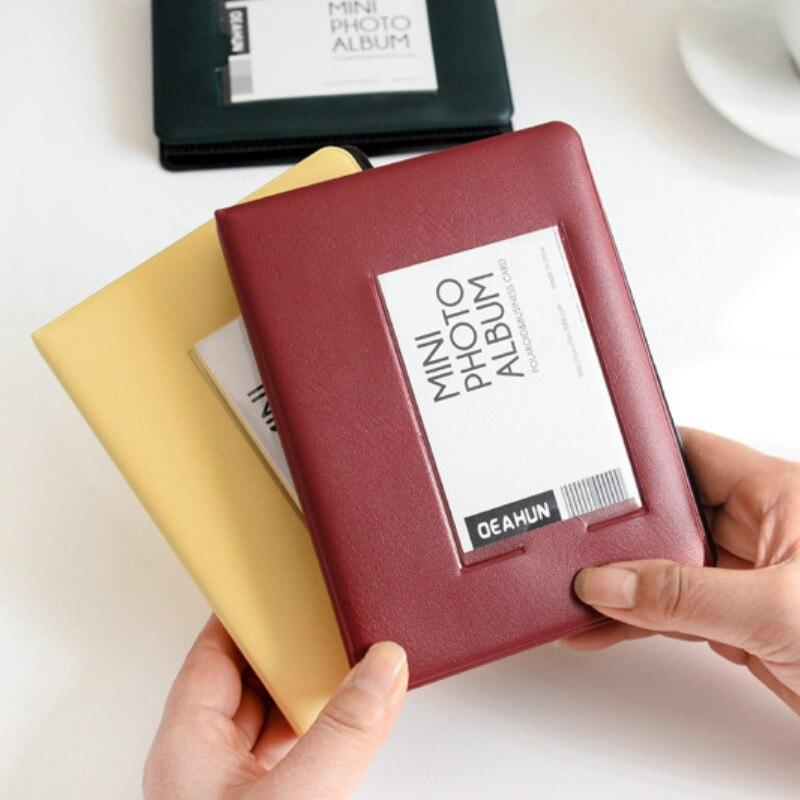 64Pockets Mini Instant Photo Album Picture Case for Fujifilm Instax Mini Film 7s 8 25 50s 90 Instax Mini for Polaroid Album