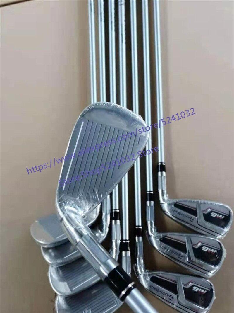 Клюшки для гольфа 2019 M6 железная модель M6 набор утюгов для гольфа 4 9PS (8 шт.) R/S гибкий стальной/графитовый Вал с крышкой головки - 2